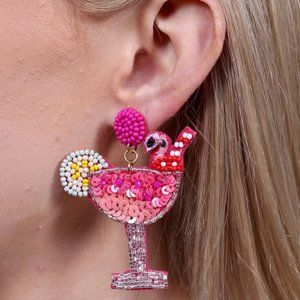 NWT Bay Breeze Embellished Cocktail Earring Pink